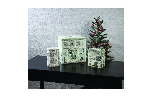 CHRISTMAS ADVERTISING TINS SET OF 3