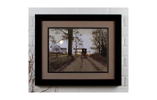 LIGHTED MATTED FRAMED HEADIN HOME